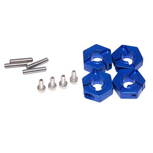 sharprepublic 5,0 Rad Hex 12mm Antrieb Naben Pins Und Schrauben Für 1/10 RC Auto Blau (12mm Rc Reifen Und Räder)