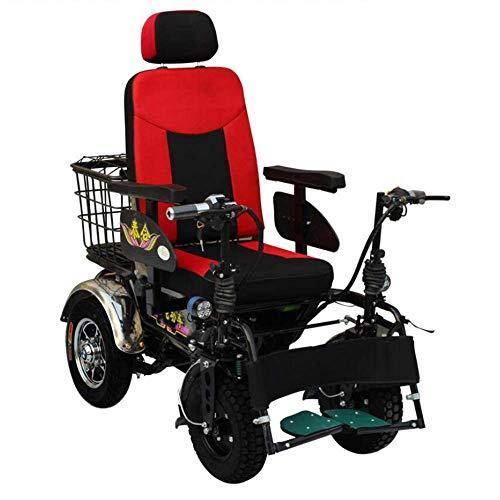 Y-L Anziani Disabili 100 Carrozzina per Disabili Fuoristrada Elettrica per Disabili, Paziente con Batteria al Litio Multifunzione a Quattro Ruote da 20 A, Durata 150 Km