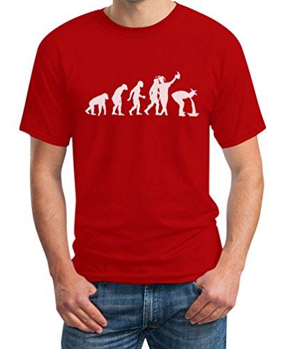 Karneval Evolution - Karnevalskostüme Fasching T-Shirt Rot