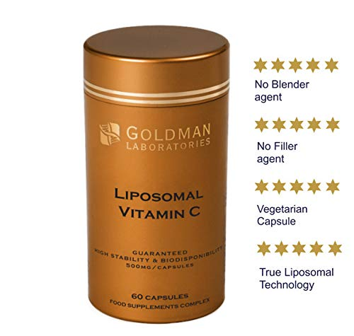 Kollagen 500 Mg 60 Tablette (VITAMIN C LIPOSOMAL 500mg - Leistungsstarke Dosis Vitamin C I Eingekapselt für maximale Bioverfügbarkeit I 100% Non-GMO und vegan I Nahrungsergänzungsmittel - 60 Kapseln Vegan)