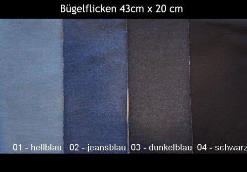 Jeans Bügelflicken XXXL 43x20 cm / Farbe: 02