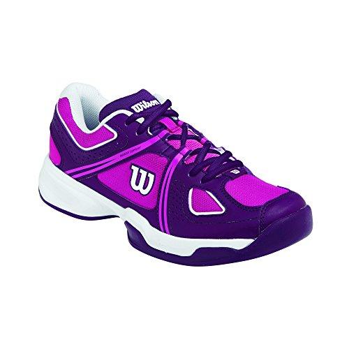 WILSON Nvision Envy Woman, Scarpe da Tennis Donna, Multicolore (Mehrfarbig (Fiesta Pink/Deep Plum/White), 39 EU