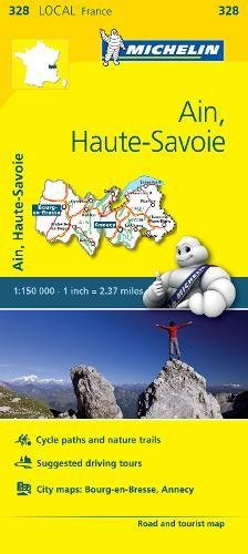 Ain, Haute-Savoie - Michelin Local Map 328 (Mapas Local Michelin, Band 328)