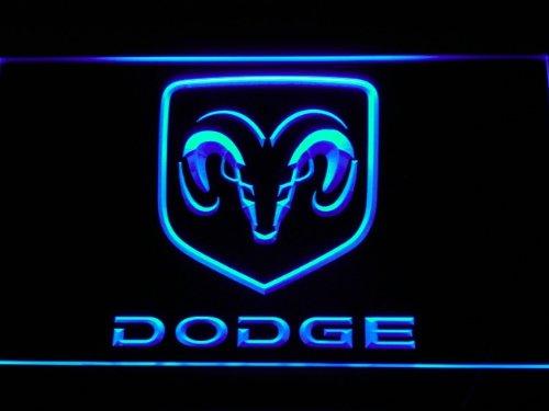 Dodge LED Zeichen Werbung Neonschild Blau