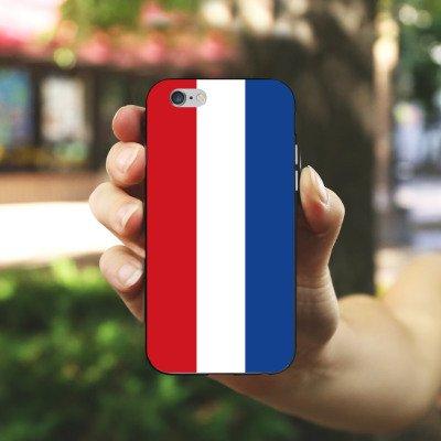 Apple iPhone 5s Housse Étui Protection Coque Pays-Bas Hollande Drapeau Housse en silicone noir / blanc