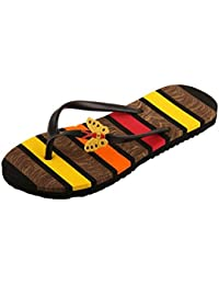 M2C Women's Black Yellow Slipper