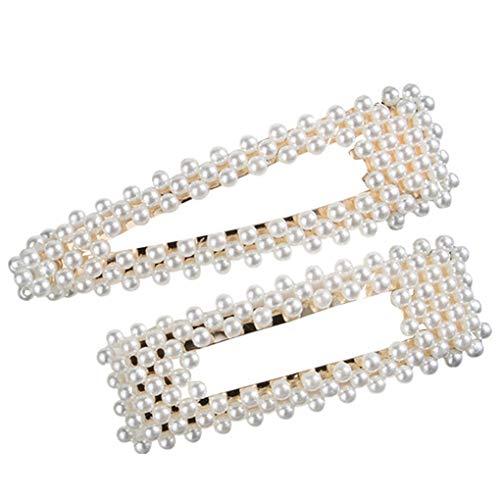 Haarschmuck/Dorical Damen Hochzeit Haarspange Haarnadeln Gold Perlen Glitzer Accessoires/Geburtstags Geschenk Party Handgefertigte Perlen-Haarspange für Mama Mädchen (One size, Z001-B)