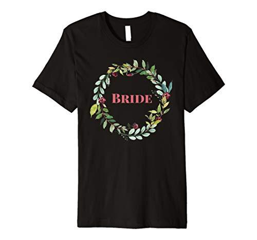 Braut Passende Braut Partei Shirt pink Buchstabe Kranz