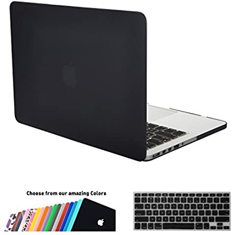 MacBook Pro 15 Retina Funda,iNeseon(TM) 2 in 1 [Frosted Series]Ultra Delgado Carcasa Dura Shell Case US Versión Negro Cubierta del Teclado e EU Versión Transparent Cubierta del Teclado para Apple MacBook Pro 15/15.4 pulgada con Retina Display Modelo:A1398 (VERSION MÁS NUEVA, NO CD-ROM Drive,NOT para MacBook Pro 15 Modelo:A1286) (Negro)