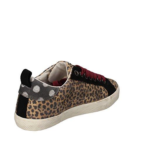 D.A.T.E. (DATE) Sneakers Bambina Tessuto Camoscio Marrone/Nero