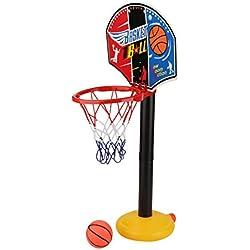 Zerodis Ensemble de Basket Ajustable Jeu de Sport Panier de Basket Panier Mobile sur Pied Hauteur Réglable de 50cm à 110cm pour Enfant 2-5Ans Activités Intérieures et Extérieures (Basket)