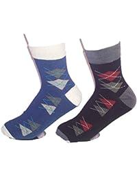Platinum Men's Super Fine Socks Multi colored in a pack of 2 pairs