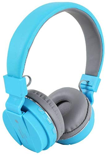 Morlivala SH12 Wireless Bluetooth Headphone for All Mobile with Mic with FM and SD Card Slot with Music and Calling Controls (Blue) Image 2