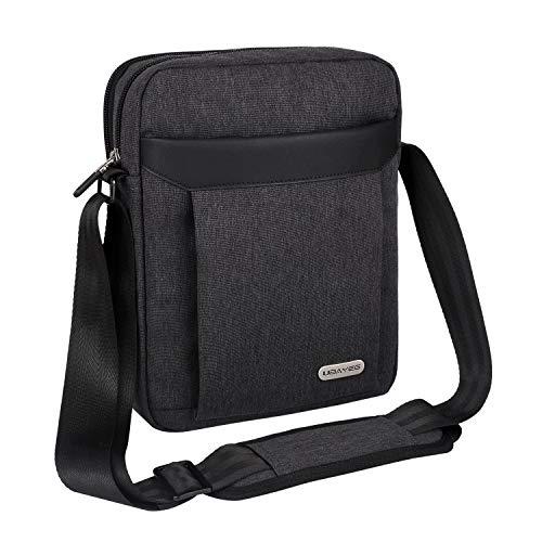 UBAYEE Umhängetasche Herren, Schultertasche Herrentasche Messenger Bag für Reise und Arbeit mit Tablet/iPad Fach bis 11 Zoll (Schwarz)