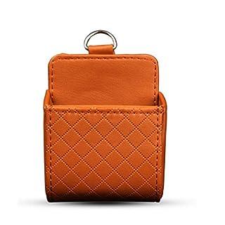 Auto Organizer Box Bag Luftauslass Armaturenbrett hängende Leder Universal Car Handyhalter im Automobil-Innenausstattung , brown