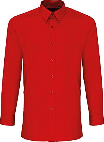 CreativeMinds UK Herren Business-Hemd Rot