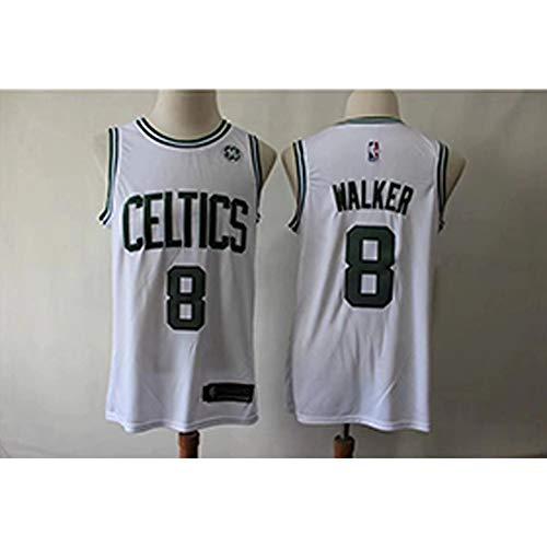YDYL-LI Boston Celtics # 8 Kemba Walker All-Star-Trikot Basketball Uniform Ärmellose Sportweste Wettbewerb Uniforms Fans Basketball-Uniformen,E,XXL=95~110KG -