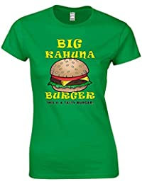 JLB Print Big Kahuna Burger Pelicula Pandillas Violenta Inspirada Camiseta Ajustada Mujeres Adolescentes