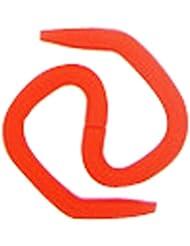 2 Paires Sport Casque Crochets Compatible plupart Earbuds rouge