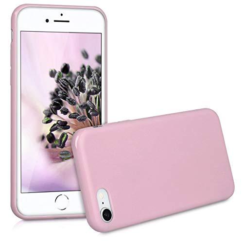 Kwmobile apple iphone 7/8 cover - custodia per apple iphone 7/8 in silicone tpu - backcover protezione rosa antico matt