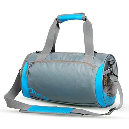 Unisex Gym tragbar Schulter Taschen Reisetaschen Blau - blau
