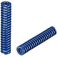 sourcing map 8x40mm largo espiral estampado carga ligera molde de compresión resorte rectangular blue 2pcs