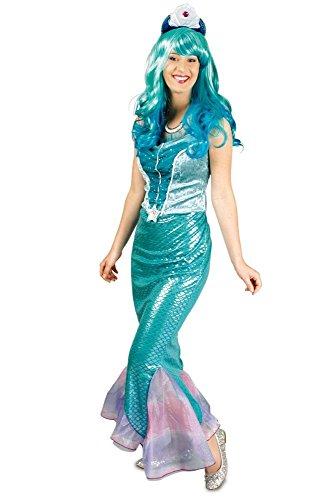 ngfrau Nixe Karneval Fasching Gr.44/46 (Damen Meerjungfrau Halloween Kostüme)