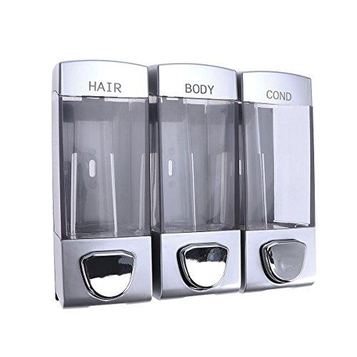 OUNONA Wand Shampoo Spender Seife Gel Spender mit Drei Ausgänge für Badezimmer Dusche