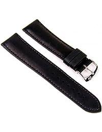 Morellato Duccio Vitello Piuma Ersatzband Uhrenarmband Kalbsleder schwarz 22mm