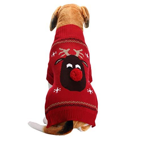 Dobbi Dog Herbst Winter Warme Sweater Cute Hundepullover Hundebekleidung Haustier Hunde Strick Pullover Puppy Komfortabel Kostüme Dog Costume Hundemantel Welpen Jumpsuit Pet Dicke Outwear
