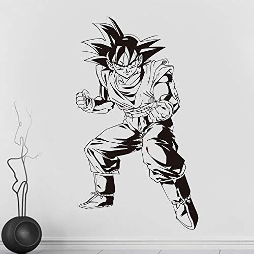 haotong11 Nueva Bola de Dragón de Dibujos Animados Sol Wukong Pegatinas de Pared de Vinilo Removible Tatuajes de Pared Decoración para El Hogar Sala de Estar DIY Arte Mural Wallpaper 42 * 73 cm