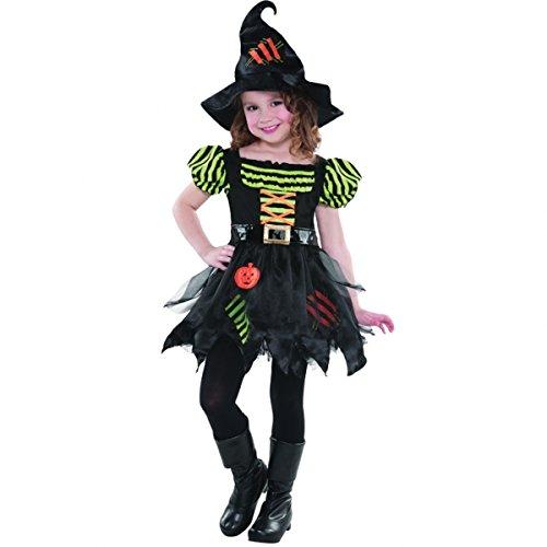 L Mädchen Pumpkin Patch-Kostüm Hexe, Halloween Kostüm (Pumpkin Patch Kostüm)