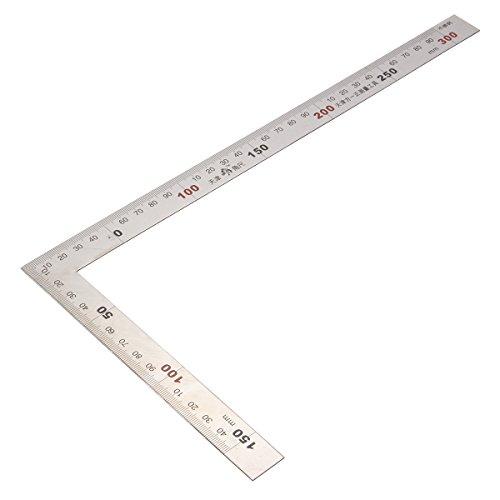 trischer Quadrat-Lineal-Edelstahl 90 Grad Winkel-Ecklineal ()