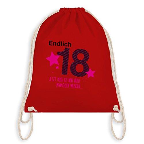 Compleanno - Finalmente 18 - Borsa Da Viaggio E Borsa Da Ginnastica Rossa