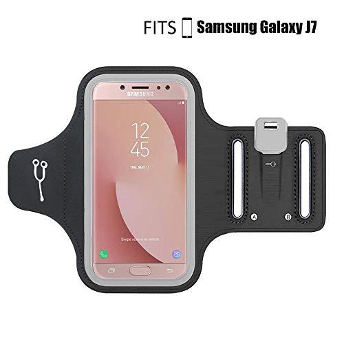 Fascia da braccio Sport per Samsung Galaxy J7 (2017)/J7 (2018),Anti-sudore, Impermeabile,fitness, jogging, ciclismo(Versione migliorata)