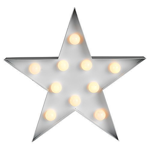 Contemporary Battery Operated White Star Shaped Led Decorative Light