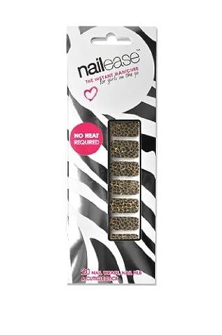 Naillease Nail Wraps Gold Leopard Metallic Foil