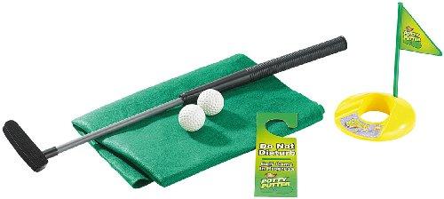 infactory Mini Golf: 7-teiliges Golfspiel-Set für Bad & WC, inkl. Golf-Grün und Türhänger (Toilettengolf)
