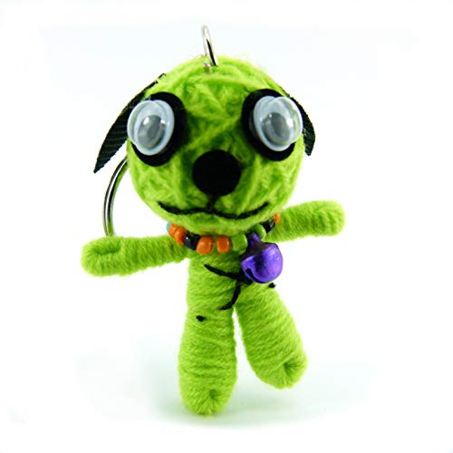 Bello - Voodoo-Puppe Schlüsselanhänger als Seelentröster und Glücksbringer zum Sammeln und als Accessoire - Anhänger für Taschen Handy Autorückspielgel - Sorgenpüppchen Handgemacht aus Wolle und Stoff (Machen Ihre Halloween-taschen Eigenen Sie)