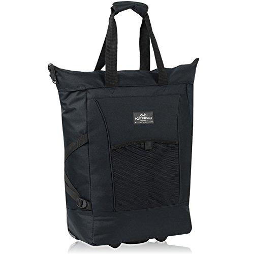 Einkaufstrolley Keanu WHEEL Trolley Shopping Damentasche Einkaufsroller Korb Shopper - Trinity Punta - FABRAUSWAHL (Pure Black ( Schwarz ))