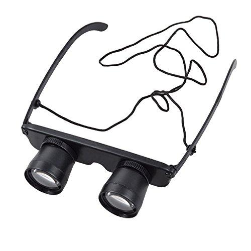 MAyouth Fashion Brille Teleskop Fernglas Lupe Eye Wear Polarisierte Sonnenbrille für Fußball Sport Angeln Reise