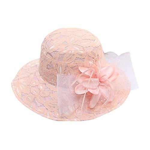 Barlingrock Hats Sun Hat Frauen Sommer Damen Party Hochzeit Kirche UV-Schutz - Sommer Kirche Hat