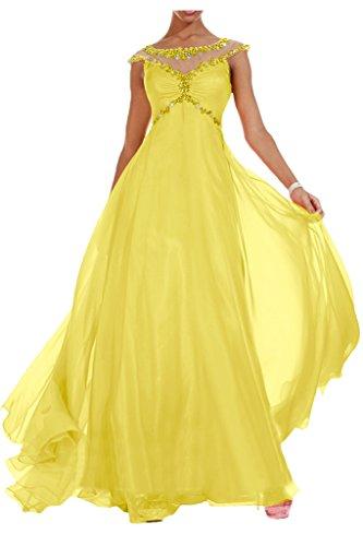 Royaldress Edel Orange Blau Pailletten Steine Abendkleider Partykleider Abiballkleider Lang chiffon Rock Hell Gelb