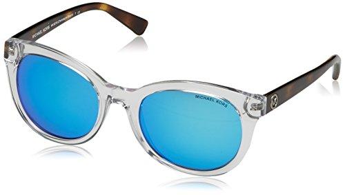 Michael Kors Unisex MK6019 Champagne Beach Sonnenbrille, Weiß (Crystal 305025), One size (Herstellergröße: 53)