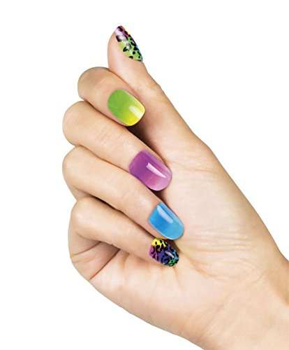 Nana 's Party Versand Schnell False Full Nail Tipps mit Klebestreifen (24 PCS) {Boland} Reihe An Designs Multicoloured Animal Print - Print Halloween-make-up Animal