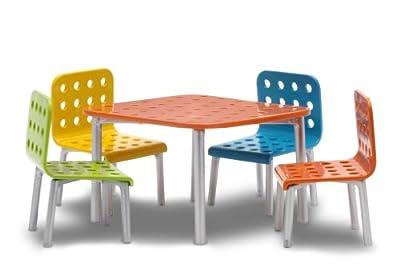 Lundby Stockholm 60.9027.00 - Muebles de jardín en miniatura para casa de muñecas (escala 1:18) de Lundby
