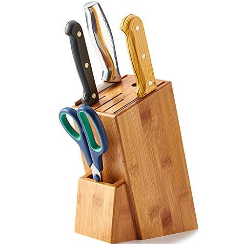 Xue-Shelf Multifunktions-Messerhalter für Küchengeräte, 7-Fach-Holzmesserblock mit leerem Steckplatz, Design zur Belüftung des Küchenregals und einfache Reinigung -