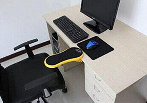 Preisvergleich Produktbild HENGSONG 1x PC Computer Laptop Arm Handgelenkauflage für Ausflüge Tabelle Pad Unterstützung Unterarm Armlehne (gelb)