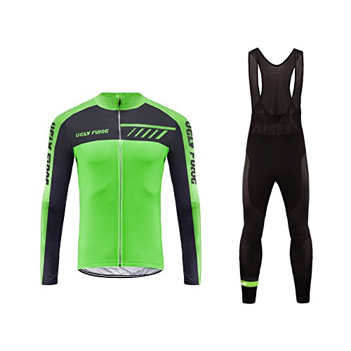 Uglyfrog 2018 Neue Männer Radfahren Langarm Radfahren Jersey Frühling eine Menge Farben Antislip Ärmel Cuff Road Bike MTB Top Riding Shirt