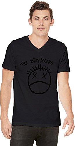 The Distillers Logo Herren V-Ausschnitt T-Shirt Large